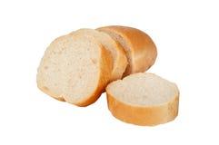 Γαλλικές φέτες baguette, που απομονώνονται στο άσπρο υπόβαθρο στοκ εικόνες