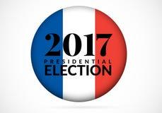 Γαλλική διανυσματική απεικόνιση προεδρικών εκλογών 2017 Στοκ Εικόνα