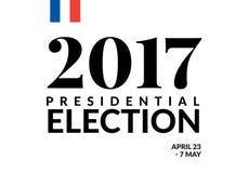 Γαλλική διανυσματική απεικόνιση προεδρικών εκλογών 2017 ελεύθερη απεικόνιση δικαιώματος