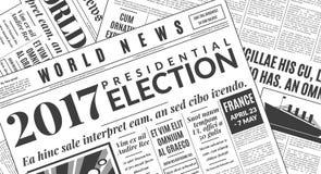 Γαλλική διανυσματική απεικόνιση προεδρικών εκλογών 2017 Στοκ Εικόνες