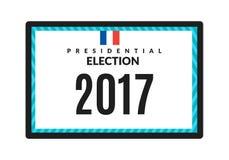 Γαλλική διανυσματική απεικόνιση προεδρικών εκλογών 2017 Στοκ φωτογραφία με δικαίωμα ελεύθερης χρήσης