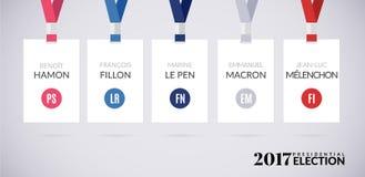 Γαλλική διανυσματική απεικόνιση προεδρικών εκλογών 2017 διανυσματική απεικόνιση