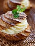 Γαλλική κρέμα Choux Στοκ Εικόνα