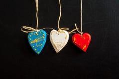 Γαλλική σημαία τρία καρδιές Στοκ Φωτογραφίες