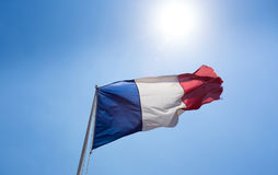 Γαλλική σημαία Στοκ φωτογραφία με δικαίωμα ελεύθερης χρήσης