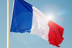 Γαλλική σημαία Στοκ Εικόνες