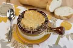 Γαλλική σούπα κρεμμυδιών Στοκ Εικόνα