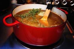 γαλλική σούπα κρεμμυδιών Στοκ εικόνες με δικαίωμα ελεύθερης χρήσης