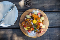 Γαλλική συνταγή φρυγανιάς Στοκ Φωτογραφία