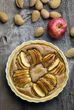 Γαλλική της Apple ξινή πίτα επιδορπίων κέικ γλυκιά Στοκ εικόνες με δικαίωμα ελεύθερης χρήσης