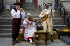 Γαλλικοί καναδικοί μουσικοί Στοκ εικόνες με δικαίωμα ελεύθερης χρήσης