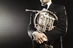 Γαλλικοί μουσικοί κέρατων Στοκ εικόνα με δικαίωμα ελεύθερης χρήσης