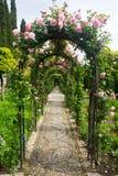 Γαλλικός επίσημος κήπος σε Generalife Γρανάδα Στοκ εικόνες με δικαίωμα ελεύθερης χρήσης