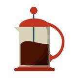 Γαλλικός κατασκευαστής καφέ Τύπου Στοκ Εικόνες