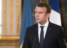 Γαλλικός Πρόεδρος Emmanuel Macron στοκ εικόνες