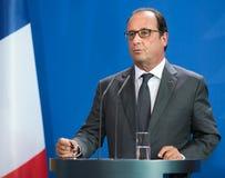 Γαλλικός Πρόεδρος Francois Hollande Στοκ φωτογραφίες με δικαίωμα ελεύθερης χρήσης