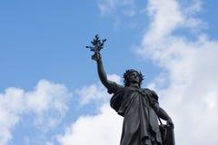 Γαλλικό άγαλμα της ελευθερίας σε ισχύ de Λα Republique Στοκ Εικόνες