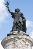 Γαλλικό άγαλμα της ελευθερίας σε ισχύ de Λα Republique Στοκ φωτογραφία με δικαίωμα ελεύθερης χρήσης
