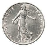 Γαλλικό ασημένιο νόμισμα στοκ φωτογραφίες με δικαίωμα ελεύθερης χρήσης