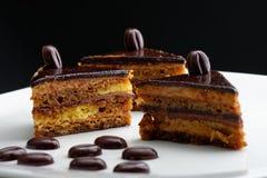 Γαλλικό γαστρονομικό κέικ καφέ Στοκ Εικόνα