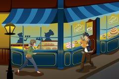 Γαλλικό κατάστημα αρτοποιείων Στοκ φωτογραφίες με δικαίωμα ελεύθερης χρήσης