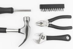 Γαλλικό κλειδί κατσαβιδιών σφυριών συνόλου εργαλείων υλικού Στοκ εικόνες με δικαίωμα ελεύθερης χρήσης