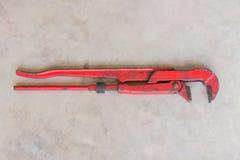 Γαλλικό κλειδί σωλήνων βαριά - χρησιμοποιημένο γαλλικό κλειδί σωλήνων Στοκ Εικόνα