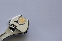 Γαλλικό κλειδί χρημάτων με το διάστημα αντιγράφων Στοκ φωτογραφία με δικαίωμα ελεύθερης χρήσης