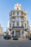 Γαλλικό μπαρόκ κτήριο αρχιτεκτονικής στη Καζαμπλάνκα Στοκ φωτογραφίες με δικαίωμα ελεύθερης χρήσης