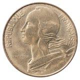 Γαλλικό νόμισμα σαντίμ στοκ εικόνα