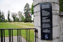 Γαλλικό πολεμικό νεκροταφείο Citadelle Dinant, Βέλγιο Στοκ φωτογραφία με δικαίωμα ελεύθερης χρήσης