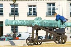 Γαλλικό πυροβόλο Στοκ εικόνες με δικαίωμα ελεύθερης χρήσης