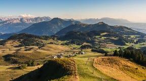 Γαλλικό χωριό σε Haute Savoie Στοκ εικόνα με δικαίωμα ελεύθερης χρήσης