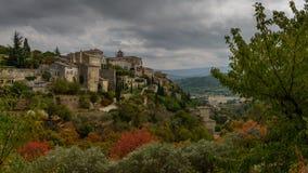 γαλλικό χωριό στοκ εικόνες
