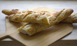 Γαλλικό baguette ψωμιού Στοκ Εικόνες