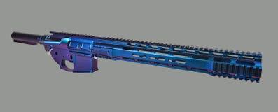Γδυμένος AR15 ανώτερος, χαμηλότερος, σωλήνας απομονωτών και handguard χρωματισμένος και έτοιμος για μια κατασκευή στοκ φωτογραφίες με δικαίωμα ελεύθερης χρήσης