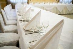 Γεγονός εστιατορίων Συμπόσιο, γάμος, εορτασμός Στοκ εικόνα με δικαίωμα ελεύθερης χρήσης