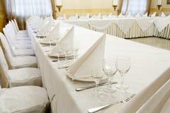 Γεγονός εστιατορίων Συμπόσιο, γάμος, εορτασμός Στοκ φωτογραφία με δικαίωμα ελεύθερης χρήσης