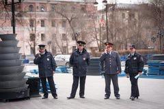 Γεγονός ελέγχου αστυνομίας Στοκ Φωτογραφία