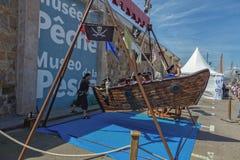 Γεγονός ημέρας πειρατών στην πόλη Palamos Κόστα Μπράβα 20 05 2018 Ισπανία Στοκ Φωτογραφίες