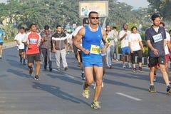 Γεγονός τρεξίματος του Hyderabad 10K, Telangana, Ινδία Στοκ Φωτογραφία