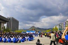 Γεγονότα που διοργανώνονται σε Gwanghwamun Plaza, επίσης γνωστό ως πλατεία Gwanghwamun στοκ φωτογραφίες