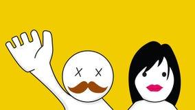 Γειά σου άνδρας και γυναίκα Στοκ φωτογραφία με δικαίωμα ελεύθερης χρήσης