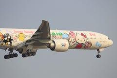 Γειά σου επιβατηγά αεροσκάφη της EVA γατακιών στοκ εικόνες