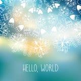 Γειά σου κάρτα παγκόσμιας φωτεινή πρόσκλησης Στοκ φωτογραφία με δικαίωμα ελεύθερης χρήσης