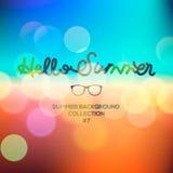 Γειά σου καλοκαίρι, θολωμένο καλοκαίρι υπόβαθρο διανυσματική απεικόνιση
