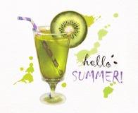 Γειά σου καλοκαίρι φρέσκο ακτινίδιο χυμού Στοκ φωτογραφία με δικαίωμα ελεύθερης χρήσης
