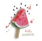 Γειά σου καλοκαίρι φρέσκο καρπούζι Στοκ φωτογραφίες με δικαίωμα ελεύθερης χρήσης