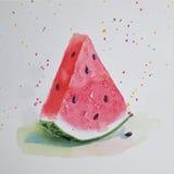 Γειά σου καλοκαίρι φρέσκο καρπούζι Στοκ Εικόνες
