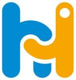 Γειά σου λογότυπο Στοκ Φωτογραφία